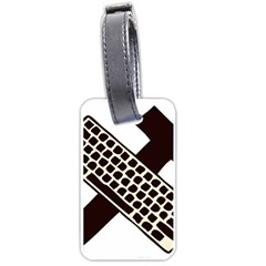 Hammer And Keyboard  Luggage Tag (two Sides)