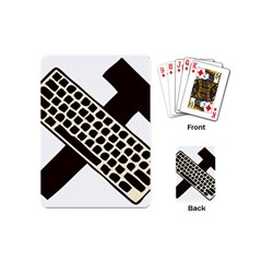 Hammer And Keyboard  Playing Cards (mini)