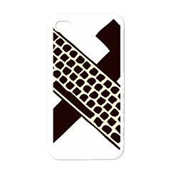 Hammer And Keyboard  Apple iPhone 4 Case (White)