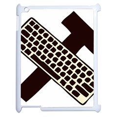 Hammer And Keyboard  Apple iPad 2 Case (White)