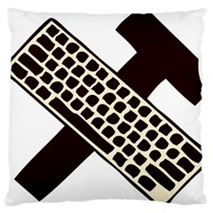 Hammer And Keyboard  Large Cushion Case (two Sided)