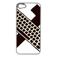 Hammer And Keyboard  Apple iPhone 5 Case (Silver)
