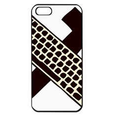Hammer And Keyboard  Apple Iphone 5 Seamless Case (black)