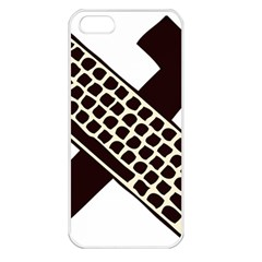 Hammer And Keyboard  Apple iPhone 5 Seamless Case (White)