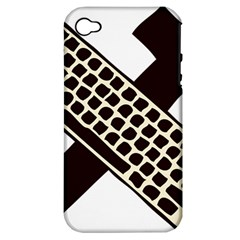 Hammer And Keyboard  Apple iPhone 4/4S Hardshell Case (PC+Silicone)