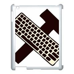 Hammer And Keyboard  Apple Ipad 3/4 Case (white)