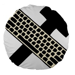 Hammer And Keyboard  18  Premium Round Cushion
