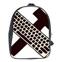 Hammer And Keyboard  School Bag (XL)