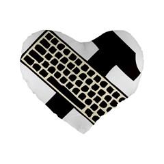 Hammer And Keyboard  16  Premium Heart Shape Cushion