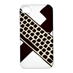 Hammer And Keyboard  Apple Iphone 4/4s Hardshell Case With Stand