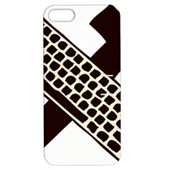Hammer And Keyboard  Apple iPhone 5 Hardshell Case with Stand