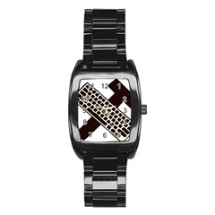 Hammer And Keyboard  Men s Stainless Steel Barrel Analog Watch