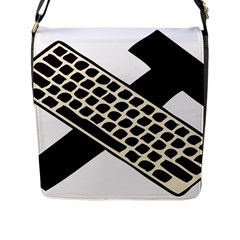 Hammer And Keyboard  Flap Closure Messenger Bag (Large)