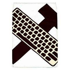Hammer And Keyboard  Removable Flap Cover (Large)