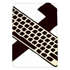 Hammer And Keyboard  Removable Flap Cover (small)