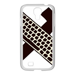 Hammer And Keyboard  Samsung GALAXY S4 I9500/ I9505 Case (White)