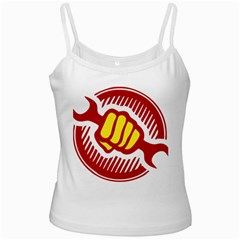 power to the people White Spaghetti Tank
