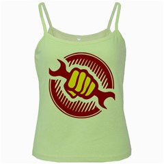 Power To The People Green Spaghetti Tank