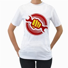 power to the people Womens  T-shirt (White)