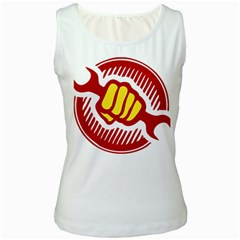 power to the people Womens  Tank Top (White)