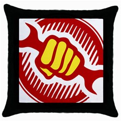 power to the people Black Throw Pillow Case