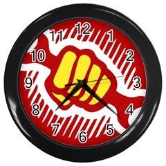 power to the people Wall Clock (Black)