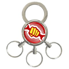 power to the people 3-Ring Key Chain