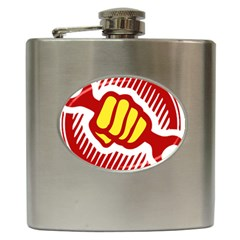 power to the people Hip Flask