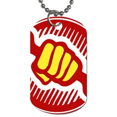 Power To The People Dog Tag (two Sided)