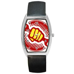 power to the people Tonneau Leather Watch