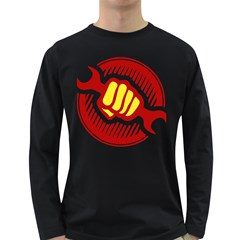 Power To The People Mens' Long Sleeve T Shirt (dark Colored)
