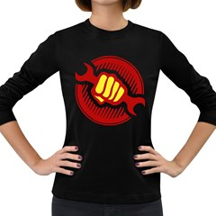 power to the people Womens' Long Sleeve T-shirt (Dark Colored)