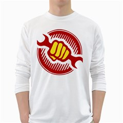 power to the people Mens' Long Sleeve T-shirt (White)