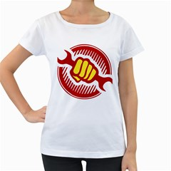 Power To The People Womens' Maternity T Shirt (white)
