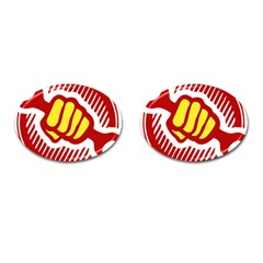 power to the people Cufflinks (Oval)