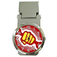 power to the people Money Clip with Watch