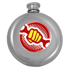 power to the people Hip Flask (Round)
