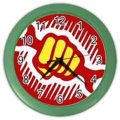 power to the people Wall Clock (Color)