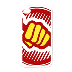 power to the people Apple iPhone 4 Case (White)