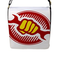 Power To The People Flap Closure Messenger Bag (large)