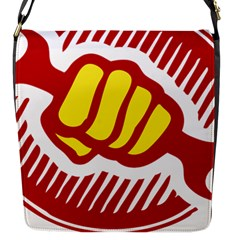 power to the people Flap closure messenger bag (Small)