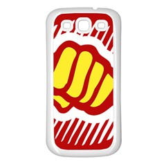 power to the people Samsung Galaxy S3 Back Case (White)