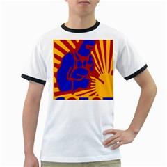 Soviet Robot Worker  Mens' Ringer T-shirt