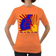 Soviet Robot Worker  Womens' T-shirt (Colored)