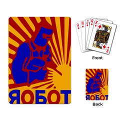 Soviet Robot Worker  Playing Cards Single Design