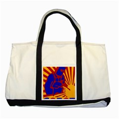 Soviet Robot Worker  Two Toned Tote Bag