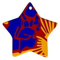 Soviet Robot Worker  Star Ornament (two Sides)