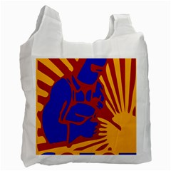 Soviet Robot Worker  Recycle Bag (Two Sides)