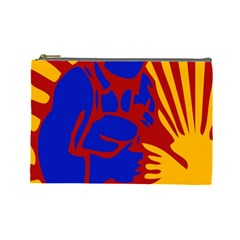 Soviet Robot Worker  Cosmetic Bag (Large)