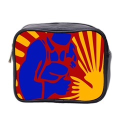 Soviet Robot Worker  Mini Travel Toiletry Bag (Two Sides)